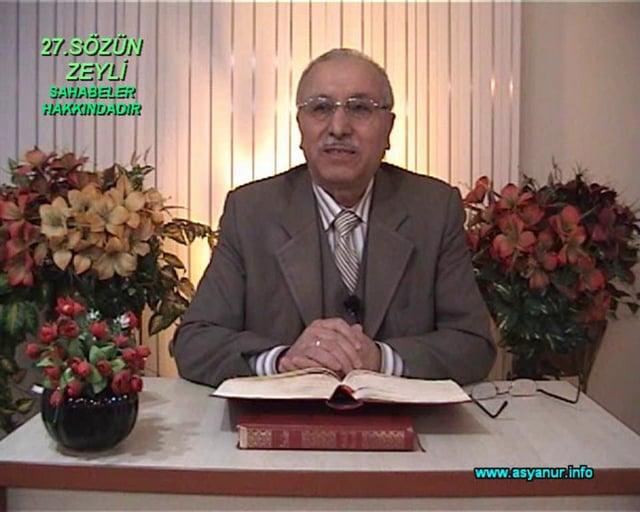 Risale-i Nur Külliyatı'ndan 27.Sözün Zeyli